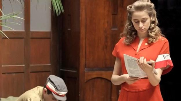 """Julia Rosnowska w serialu """"Czas honoru. Powstanie"""" /YouTube"""