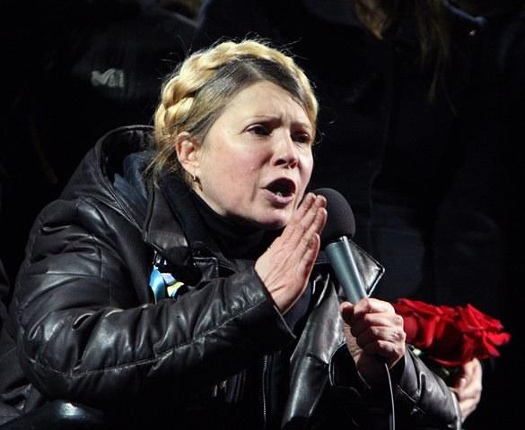 Julia Tymoszenko na Majdanie /IGOR KOVALENKO /PAP/EPA