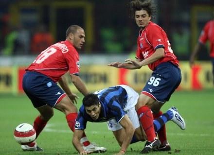 Julio Ricardo Cruz w meczu z Napoli /AFP