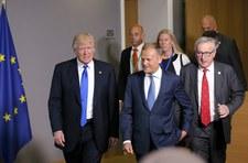 Juncker zrobił sobie żart z Tuska. Trump się roześmiał