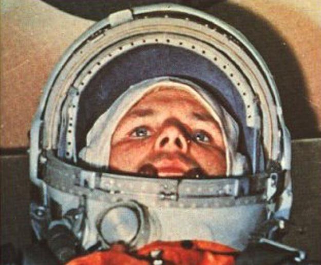 Jurij Gagarin w dniu startu w kosmos /AFP