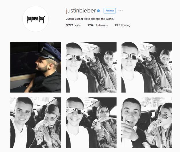 Justin Bieber na Instagramie /