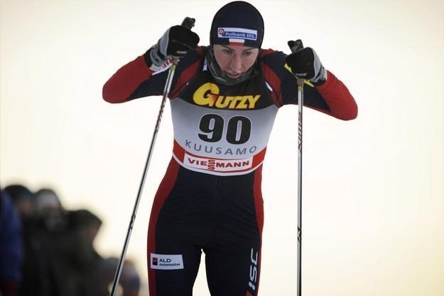 Justyna Kowalczyk na trasie biegu w Kuusamo /AFP