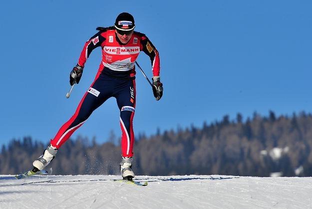 Justyna Kowalczyk na trasie środowego sprintu /AFP