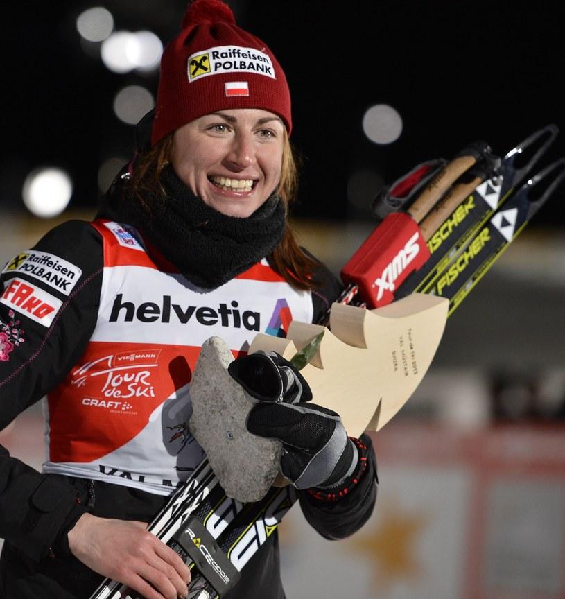Justyna Kowalczyk pewnie prowadzi w klasyfikacji generalnej Tour de Ski po trzech etapach /AFP