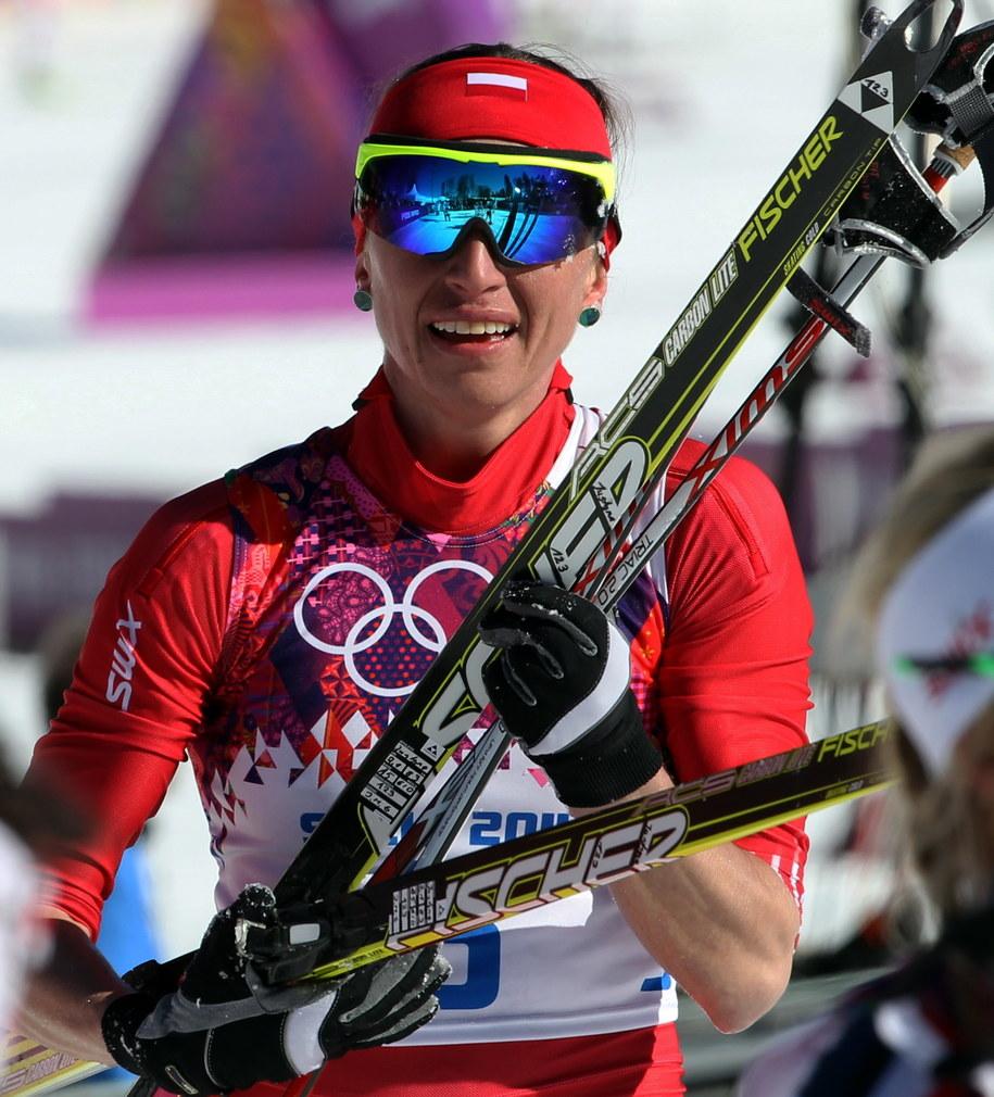 Justyna Kowalczyk po biegu łączonym 2x7,5 km (tech. klasyczną i łyżwową), Polka zajęła 6. miejsce /Grzegorz Momot /PAP