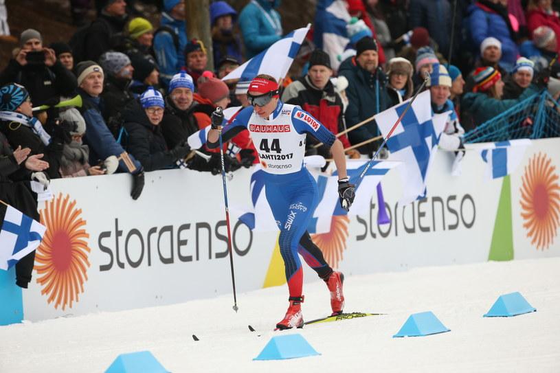 Justyna Kowalczyk podczas biegu na 10 km klasykiem na MŚ w Lahti /Grzegorz Mamot /PAP