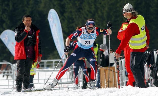 Justyna Kowalczyk w biegu indywidualnym na dystansie 5 km podczas MP fot: Grzegorz Hawałej /INTERIA.PL/PAP
