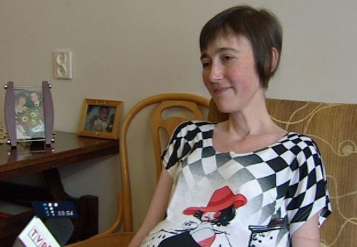 Justyna Piotrowska podczas rozmowy z TVP.Info /