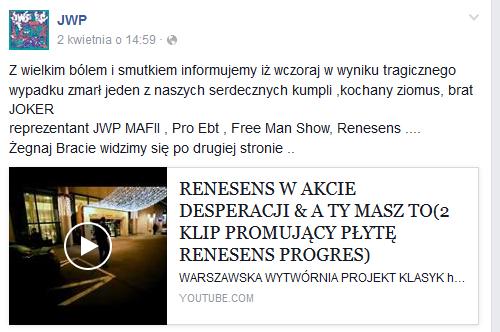 JWP na Facebooku /