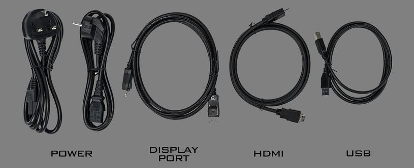 Kable sprzedawane wraz z monitorem /materiały prasowe