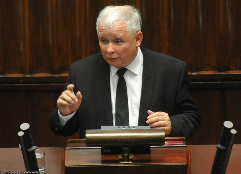 Kaczyński odniósł się do kwestii obniżenia wieku emerytalnego, dodatków na dzieci i podwyższenia kwoty wolnej od podatku /Witold Rozbicki /Reporter