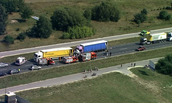 Kadr z miejsca wypadku /TVN24.pl