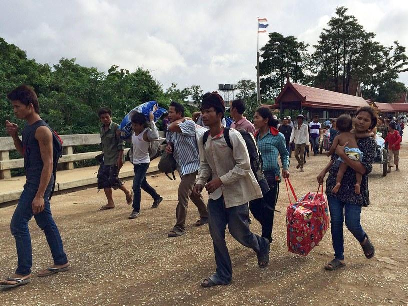 Kambodżanie masowo opuszczają Tajlandię /AFP
