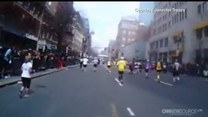 Kamera na ciele biegaczki nagrała moment wybuchu