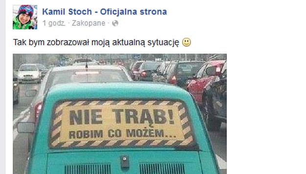 Kamil Stoch na Facebooku /
