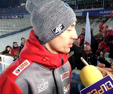 Kamil Stoch po złotym medalu polskiej drużyny na MŚ w Lahti
