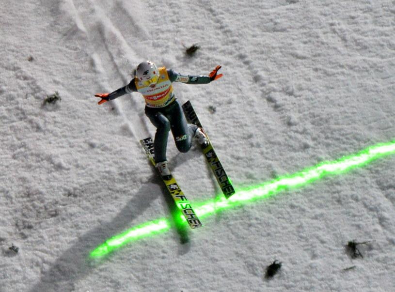 Kamil Stoch podczas kwalifikacji w Oberstdorfie /Grzegorz Momot /PAP