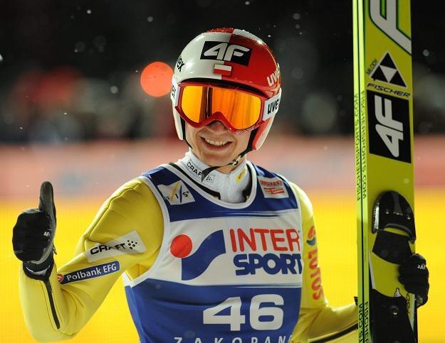 Kamil Stoch podczas Pucharu Świata w Zakopanem fot: Grzegorz Momot /PAP