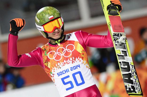 Kamil Stoch w wielkim stylu sięgnął po złoto IO w Soczi /AFP