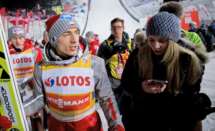 Kamil Stoch z żoną Ewą /AKPA