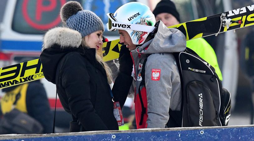 Kamil Stoch z żoną Ewą /Marek Dybas /East News
