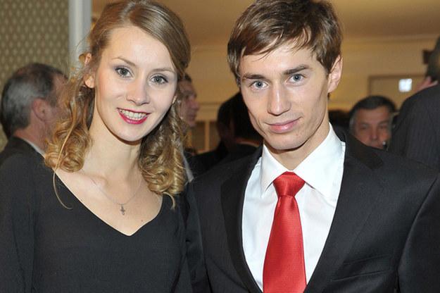 Kamil Stoch z żoną /AKPA