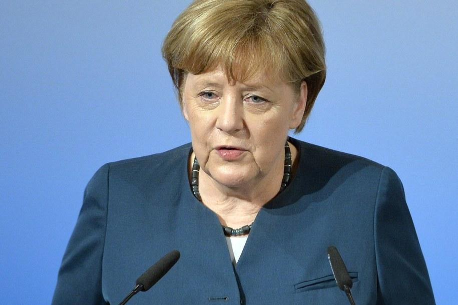 Kanclerz Angela Merkel podczas Monachijskiej Konferencji Bezpieczeństwa /Philipp Guelland /PAP/EPA