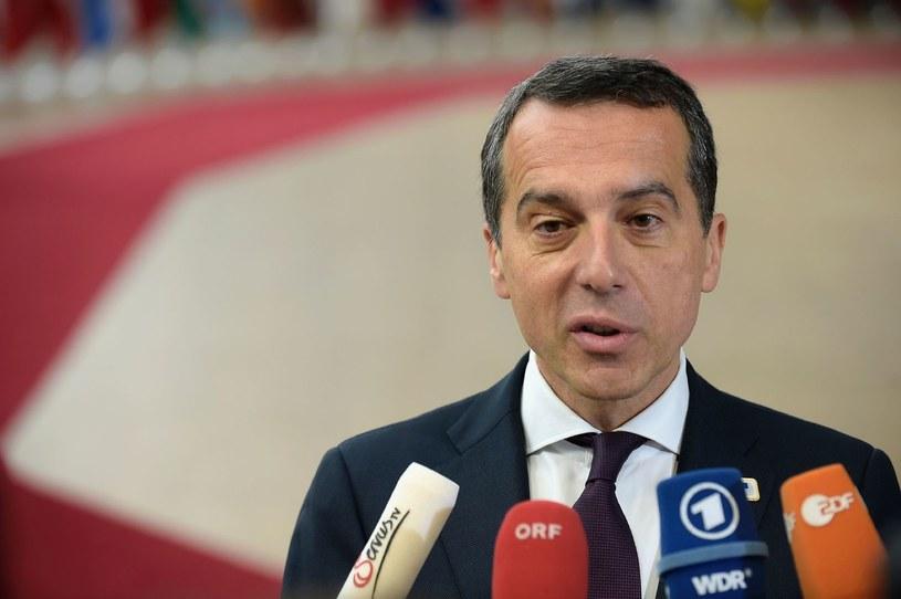 Kanclerz Austrii Christian Kern /AFP