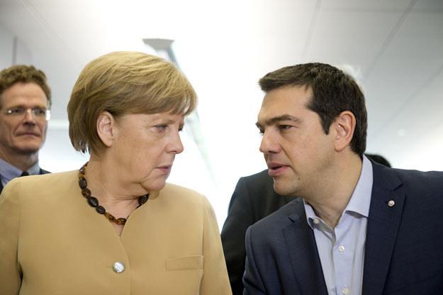 Kanclerz Niemiec Angela Merkel i premier Grecji Aleksis Cipras /AFP