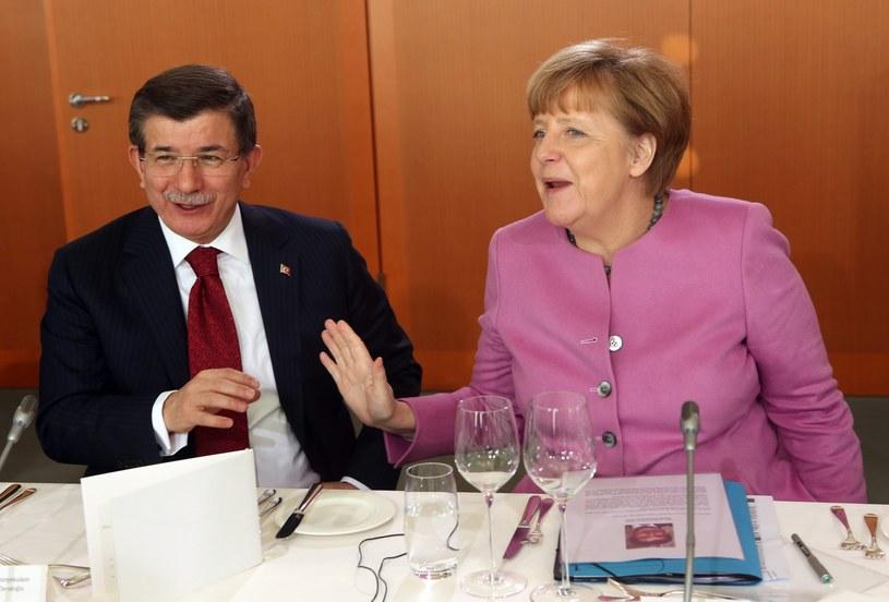 Kanclerz Niemiec i premier Turcji /PAP/EPA