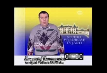 Kandydat na prezydenta Białegostoku Krzysztof Kononowicz /INTERIA.PL