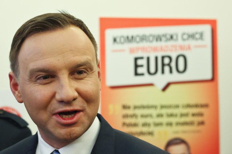 Kandydat PiS na prezydenta Andrzej Duda /Rafał Guz /PAP