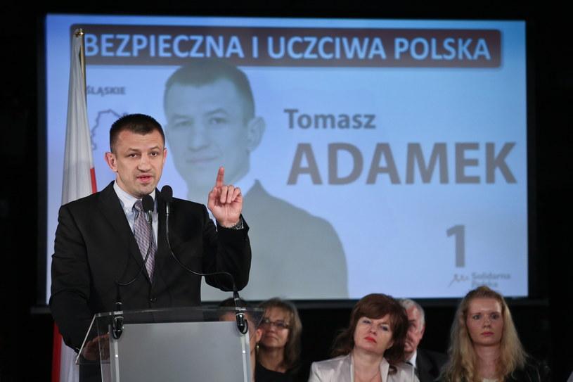 Kandydat SP do europarlamentu Tomasz Adamek /Rafał Guz /PAP