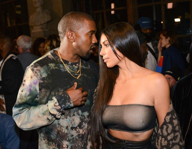 Kanye West i Kim Kardashian /Splash News /East News