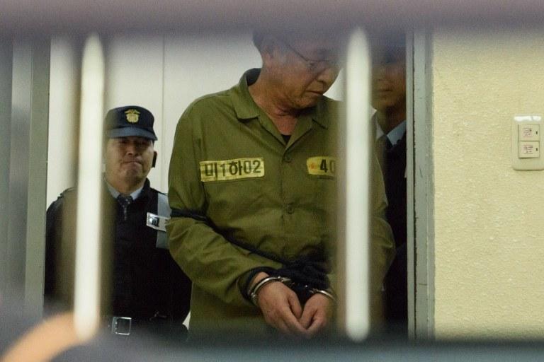 Kapitan południowokoreańskiego promu Sewol /AFP