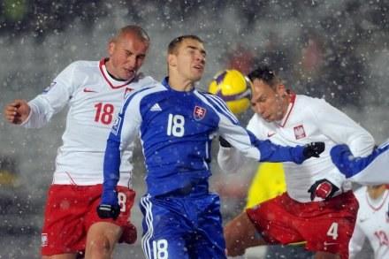 Kapitan reprezentacji Polski Mariusz Lewandowski (z lewej). /AFP