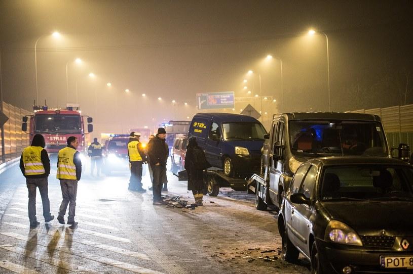 Karambol z udziałem limuzyn rządowych /Pawel Skraba /Reporter