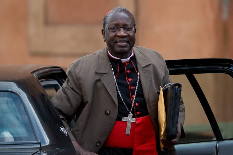 Kardynał z Senegalu Theodore Adrien Sarr. Watykan, 11 marca 2013 /JOHANNES EISELE /AFP