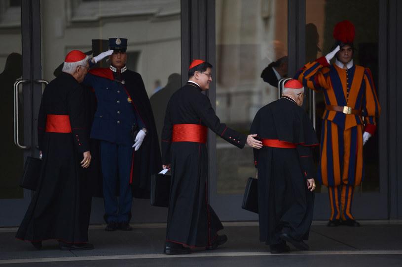 Kardynałowie w Watykanie , 9 maca 2013 /FILIPPO MONTEFORTE /AFP