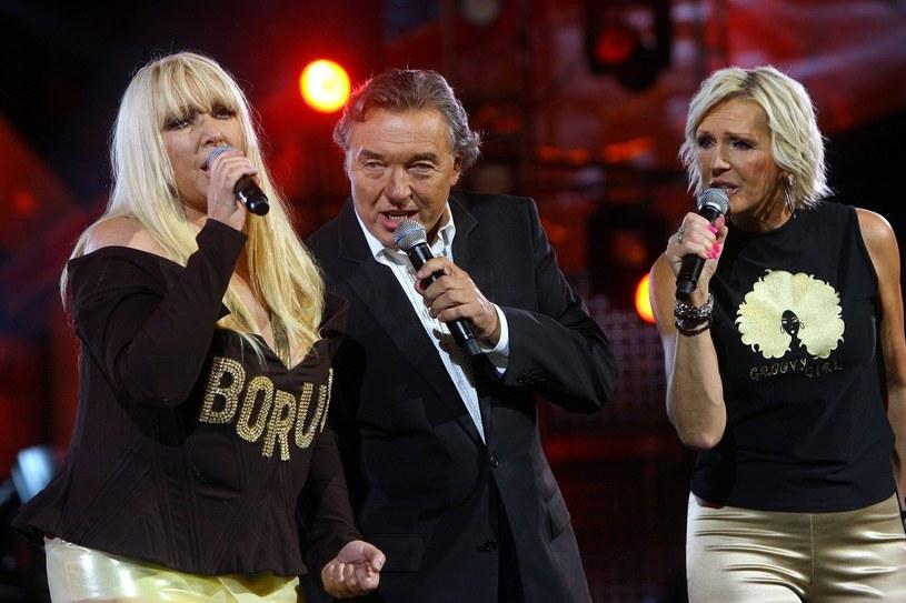 Karel z Marylą Rodowicz i Heleną Vondrackovą /- /East News