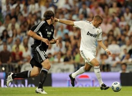 Karim Benzema strzelił dwa gole dla Realu w meczu z Rosenborgiem /AFP