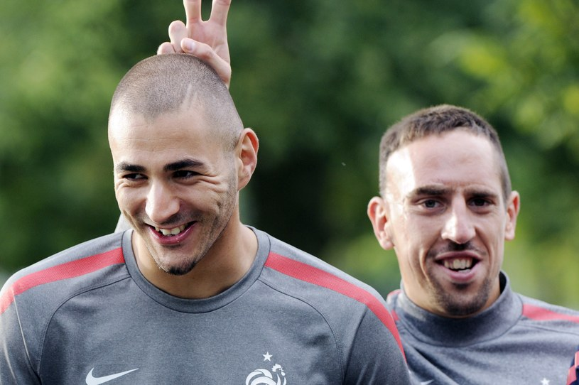 Karim Benzema (z lewej) i Franck Ribery /AFP
