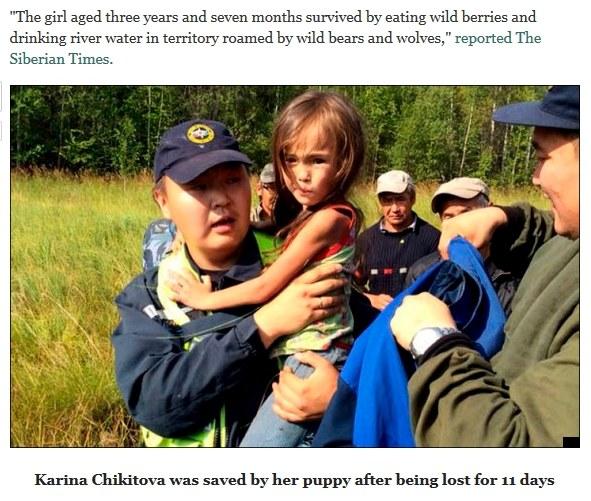 Karina odnalazła się po 11 dniach, fot. The Washington Post /