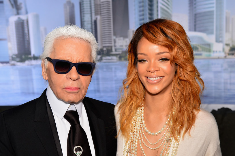 Karl Lagerfeld i Rihanna /Getty Images