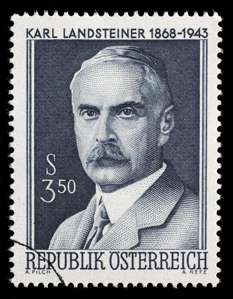 Karl Landsteiner na austriackim znaczku pocztowym /©123RF/PICSEL