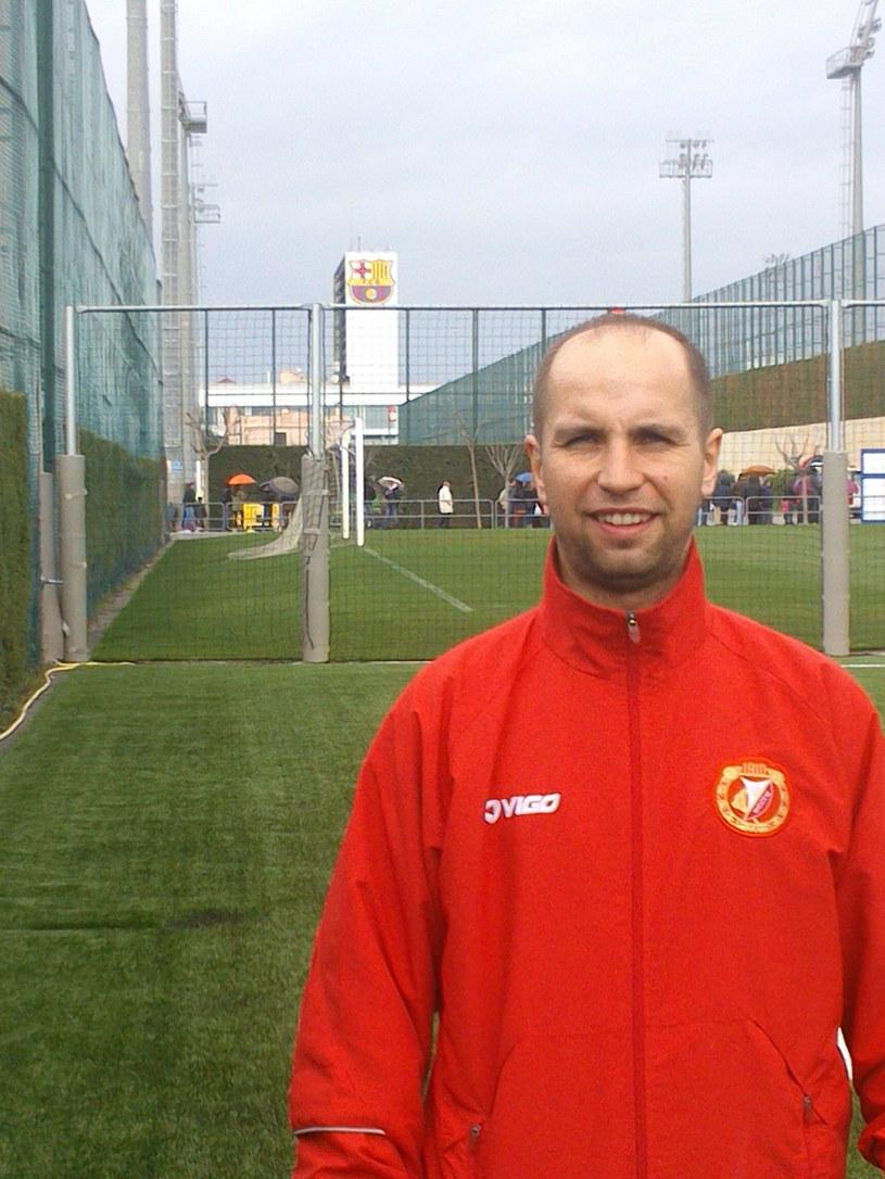 Karol Bortnik w ośrodku treningowym Barcelony - Ciutat Esportiva /INTERIA.PL