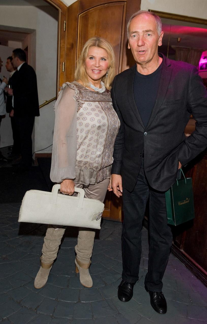 Karol Strasburger z żoną Ireną /MWMedia