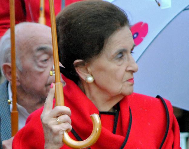 Karolina Kaczorowska, wdowa po prezydencie RP na Uchodźstwie, uczestniczyła w uroczystościach 70. rocznicy - 000395MTC852SV1H-C116-F4