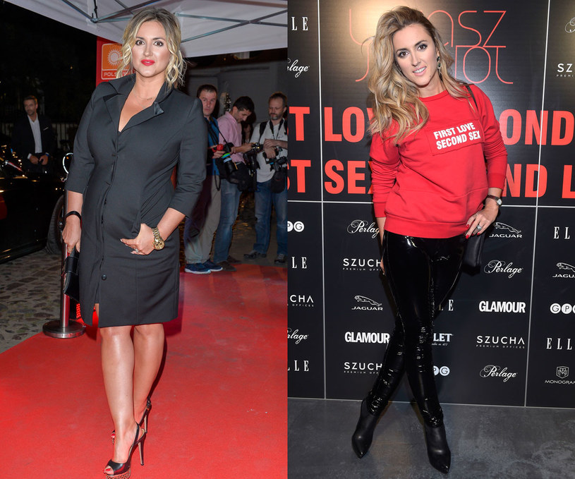 Karolina Szostak, po lewej stronie przed dietą, po prawej - po diecie /AKPA